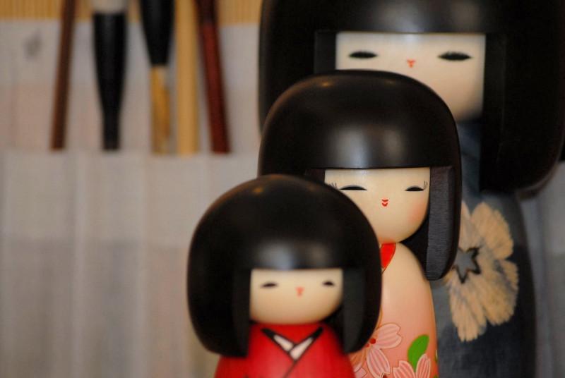 Bambole Kokeshi - Galleria 3